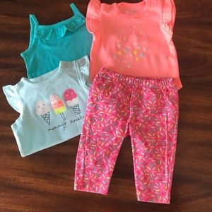Carters Pull on Pants with Tops Size 3 Month